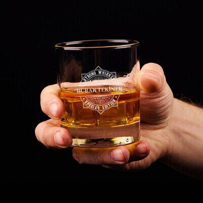 Özel Tasarım İsimli Viski Bardağı - Thumbnail