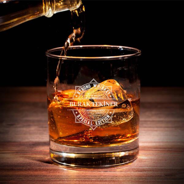Özel Tasarım İsimli Viski Bardağı