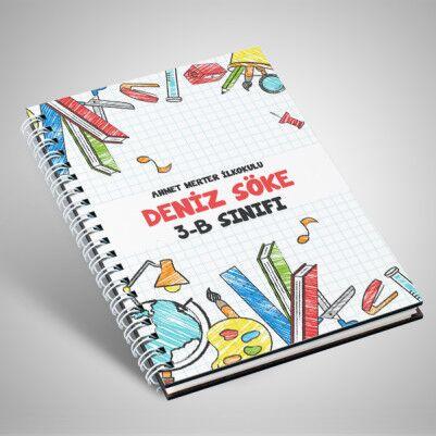 - Özel Tasarım Öğrenciler İçin Defter