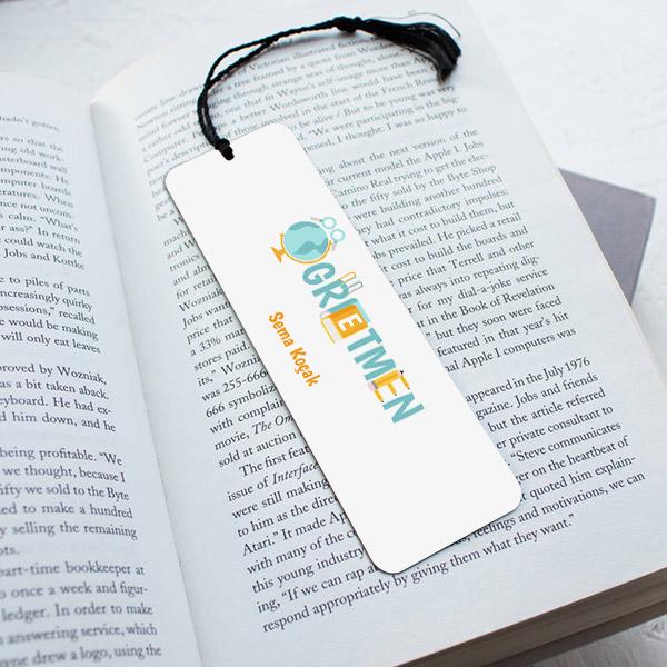 Özel Tasarım Öğretmene Hediye Kitap Ayracı