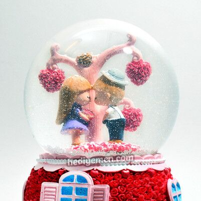 Özel Tasarım Romantik Kar Küresi KB24 - Thumbnail