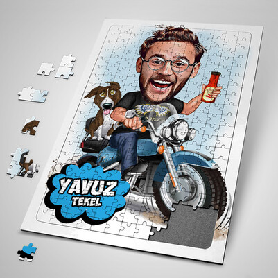- Özgür Ruhlu Adam Karikatürlü Puzzle