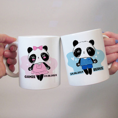 - Panda Sevgililer 2'li Kupa Bardak
