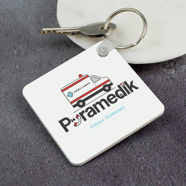 Paramedike Hediye Kare Anahtarlık