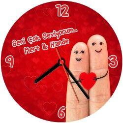 - Parmakların Aşkı Duvar Saati