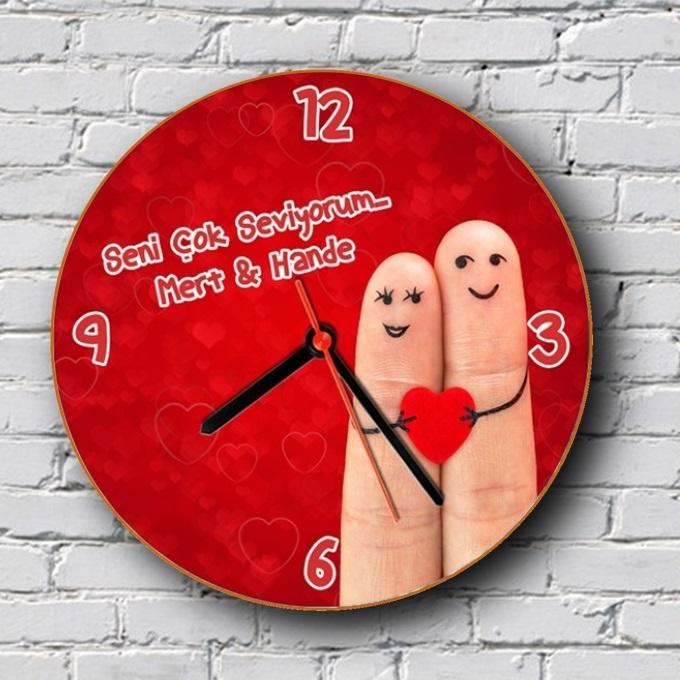 Parmakların Aşkı Duvar Saati