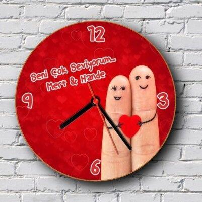 Parmakların Aşkı Duvar Saati - Thumbnail