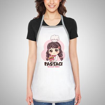 - Pastacı Kız İsme Özel Mutfak Önlüğü