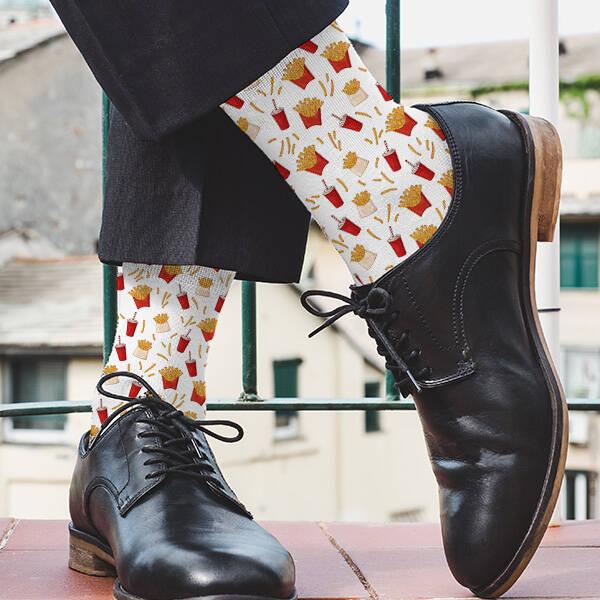 Patates Kızartması Tasarım Çorap