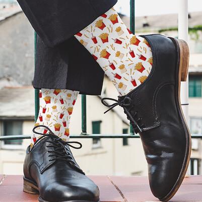 Patates Kızartması Tasarım Çorap - Thumbnail