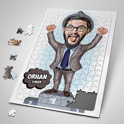 - Patronlara Özel Karikatürlü Puzzle