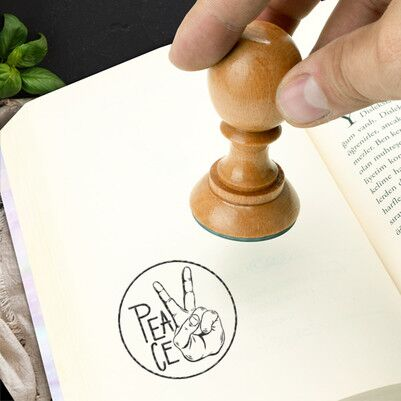 - Peace Tasarım Kitap Okuma Mührü