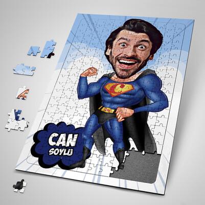 - Pelerinli Süper Kahraman Karikatürlü Puzzle