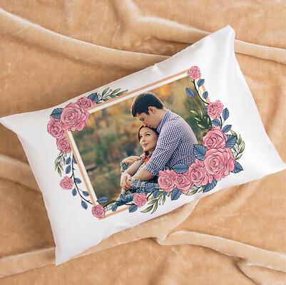 - Pembe Güller ve Aşkımız Fotoğraflı Yastık