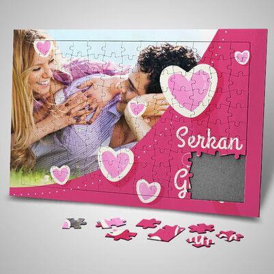 Pembe Hayallerimiz Sevgililere Özel Puzzle - Thumbnail