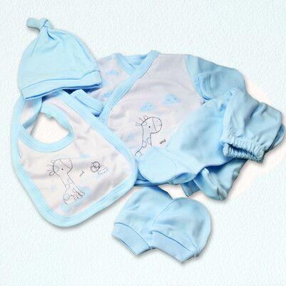 Pencere Şeklinde Erkek Bebek Hediye Seti - Thumbnail