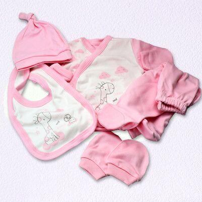 Pencere Şeklinde Kız Bebek Hediye Seti - Thumbnail