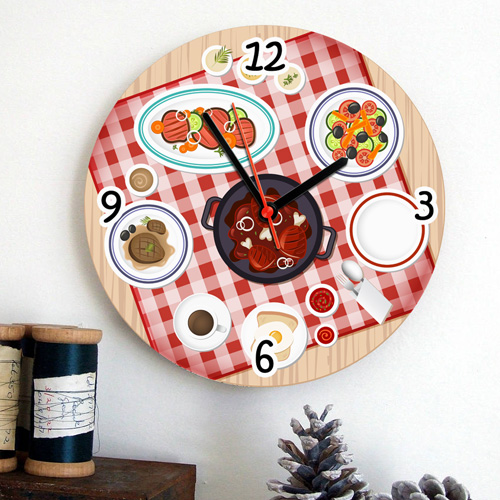 Piknik Sofrası Mutfak Duvar Saati