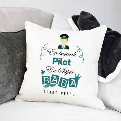 - Pilot Babalara Hediyelik Yastık