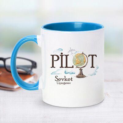 - Pilot İçin Mavi Kupa Bardak