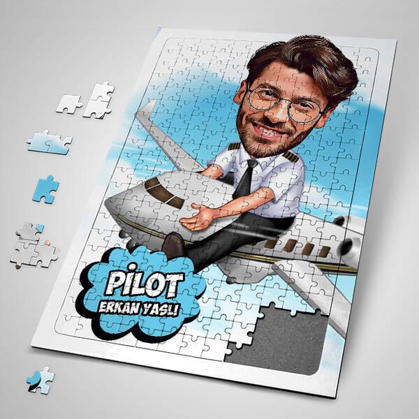 Pilot Karikatürlü Puzzle