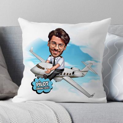 - Pilot Karikatürlü Yastık