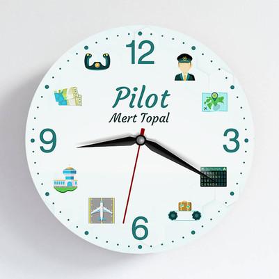 - Pilota Hediye Duvar Saati