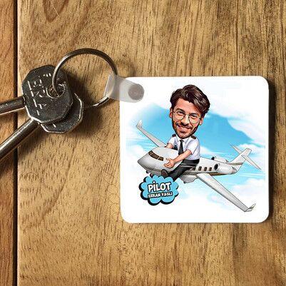 - Pilota Hediye Karikatürlü Anahtarlık
