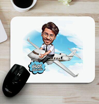- Pilota Hediye Karikatürlü Mousepad