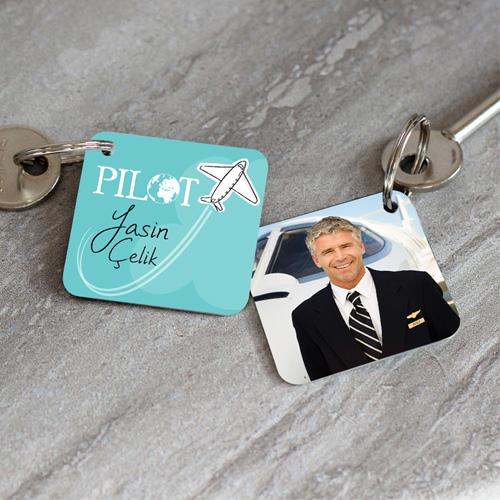 Pilotlara Hediye Kişiye Özel Anahtarlık