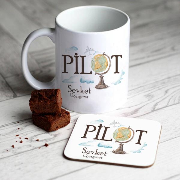 Pilotlara Özel Kupa ve Bardak Altlığı