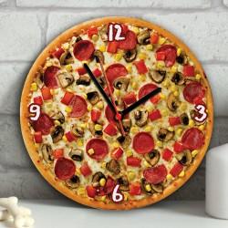 - Pizza Tasarımlı Duvar Saati