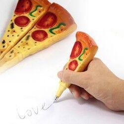 Pizza Pen - Pizza Şeklinde Magnet Kalem - Thumbnail