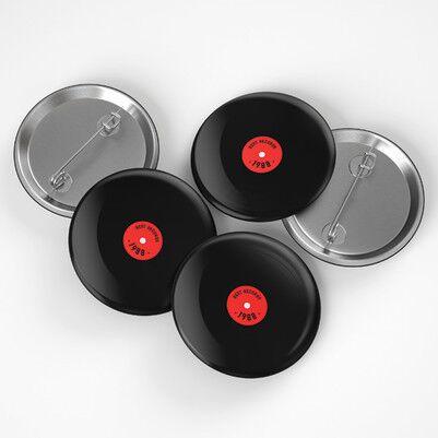 Plak Tasarımlı Buton Rozet - Thumbnail