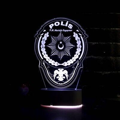 Polis Armalı 3D LED Lamba - Thumbnail