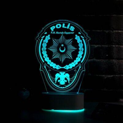 - Polis Armalı 3D LED Lamba