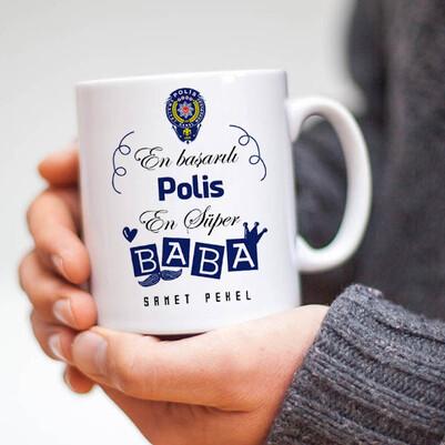 - Polis Babalara Hediye Kupa Bardak