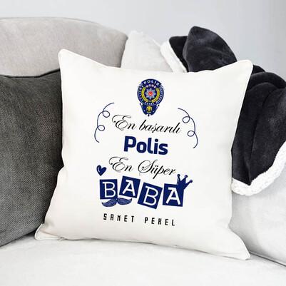 - Polis Babalara Hediye Yastık