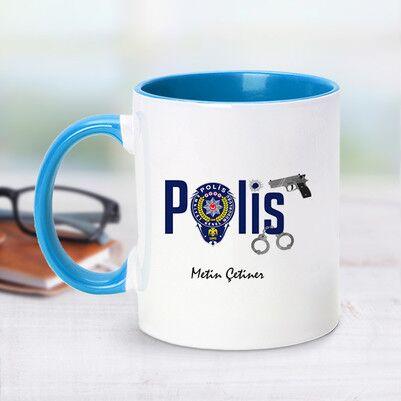 - Polis İçin Mavi Kupa Bardak