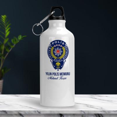 Polis Logolu İsme Özel Matara - Thumbnail