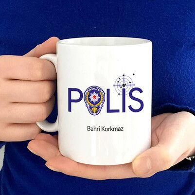 - Polis Logolu Polis Kahve Kupası