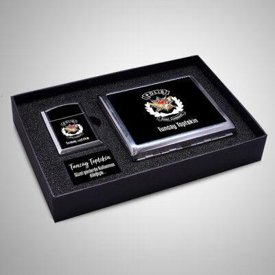 - Polis Özel Harekat Logolu Çakmak ve Sigara Tabakası