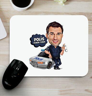 - Polise Hediye Karikatürlü Mouse Pad