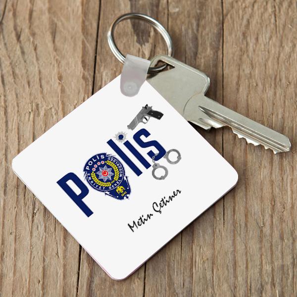 Polise Hediye Logolu Anahtarlık