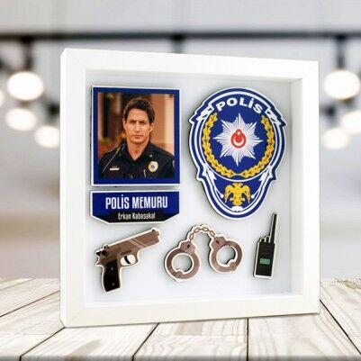 - Polislere Özel 3D Resimli Dekor Çerçeve