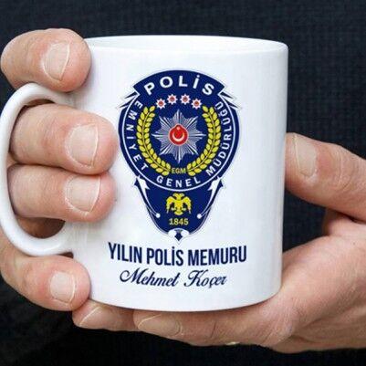 Polislere Özel İsimli Kahve Kupası - Thumbnail