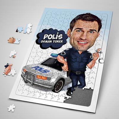 - Polislere Özel Karikatürlü Puzzle