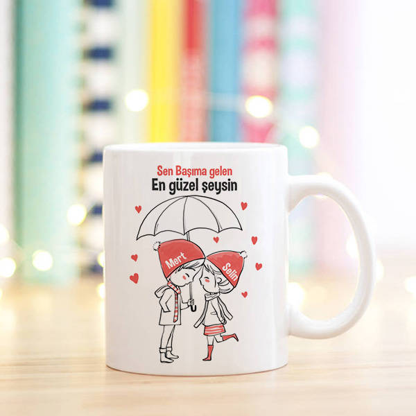 Ponçik Aşıklara Özel Sevgili Kupa Bardağı