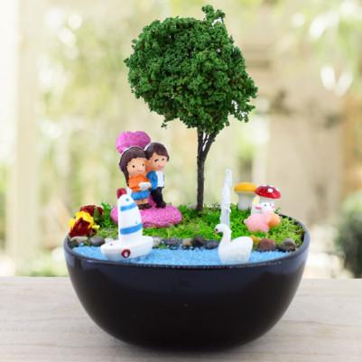 Ponçik Sevgililer Mini Aşk Bahçesi - Thumbnail