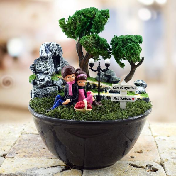 Ponçik Sevgililer Minyatür Bahçe